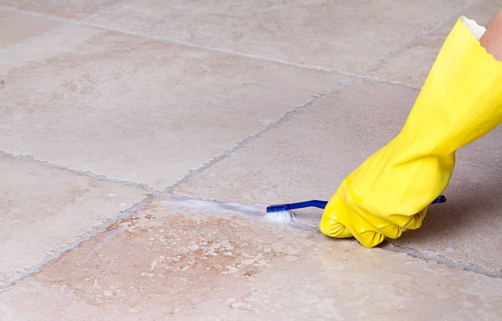 tile and grout discoloration causes